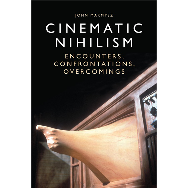 Book cover for Cinematic Nihilism with hand coming out of tv set