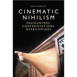 Book cover: Cinematic Nihilism with hand coming out of television set
