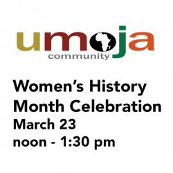 Umoja logo with event date and time